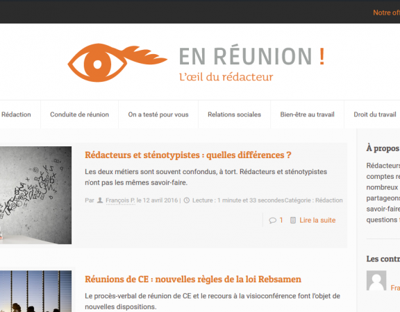 En réunion ! Nouvelle version du blog Codexa