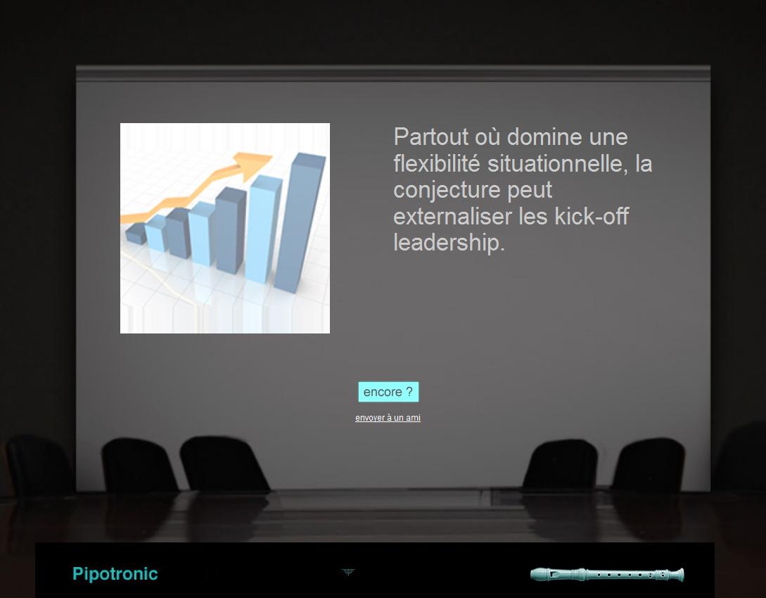 Capture d'écran du Pipotronic