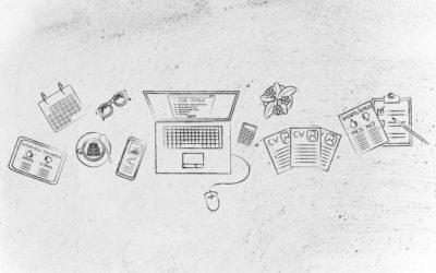 Image d'ordinateur, de calculatrice, de tablette, smartphone et calendrier.