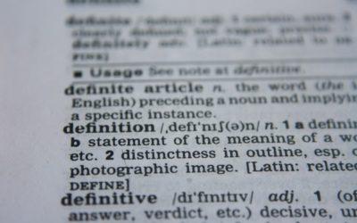 Entrées de définition d'un dictionnaire